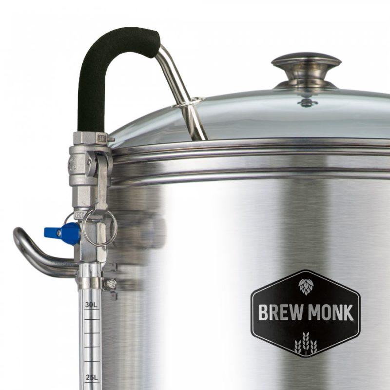 Brew Monk oluenvalmistuslaitteisto mäskin kierrätysputki ja kansi