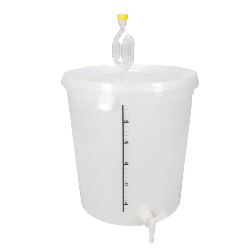 Käymisastia 32 litraa vesilukolla ja hanalla