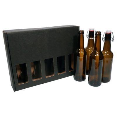 Pahvinen lahjapakkaus olutpulloille