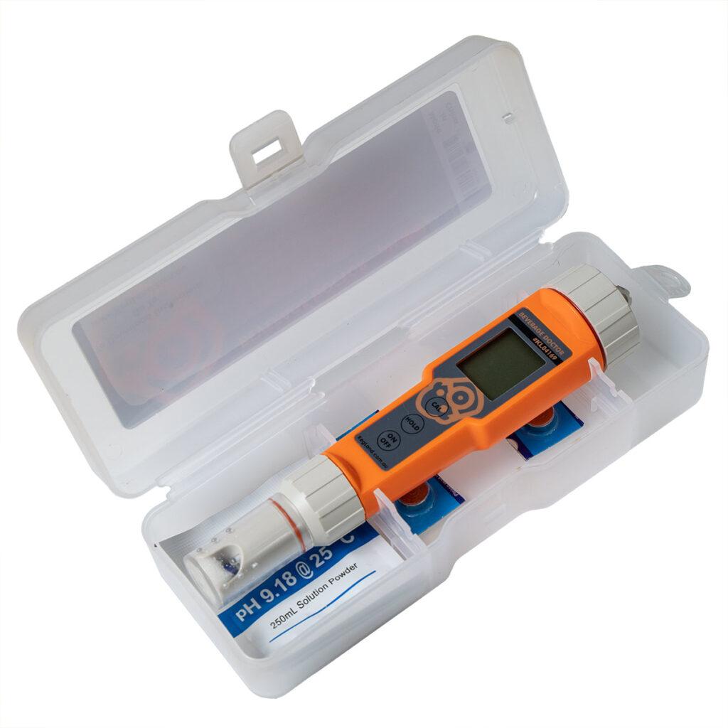 Beverage doctor pH mittari pakkauksessa