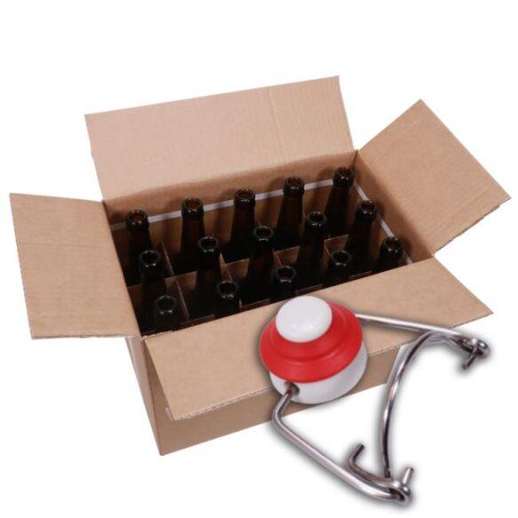 Patenttikorkkipullo 0.5 litraa korkilla, 15kpl laatikko