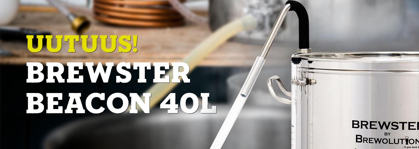 Oluenvalmistuslaitteisto / mäskäyslaitteisto brewster beacon 40l mallaspuodista