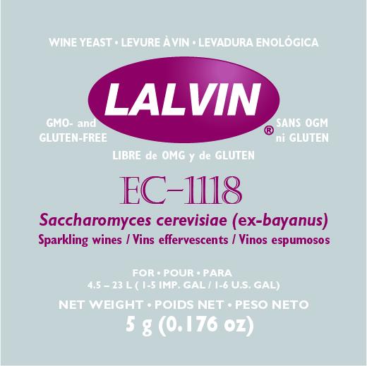 Kuivattu viinihiiva Lalvin EC-1118 5g