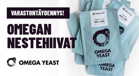 Omega Yeast nestehiivat - varastontäydennys